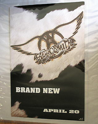 """Aerosmith Poster Record Company Poster 2-sided Giant size 23"""" X 35"""" !"""