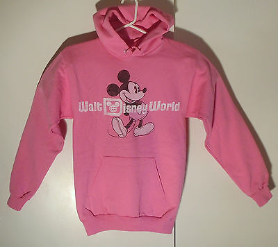 Walt Disney World Parks Pink Mickey Mouse Hoodie Jacket Women's Adult S Small