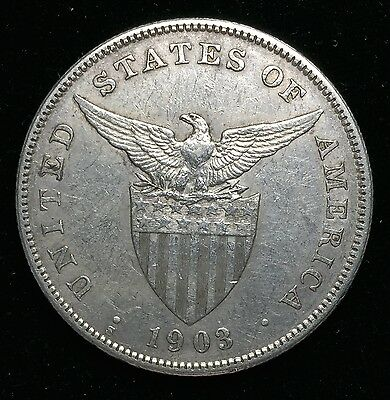 1903s Peso US-Philippines  Silver Coin - lot#2A
