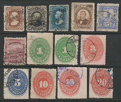 Mexico -  Small Group of 1870's to 1890's Stamps