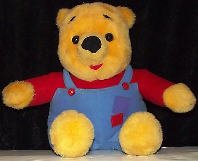 """VTG. 1997 15"""" Winnie The Pooh Talking Bear Nose Wiggles"""