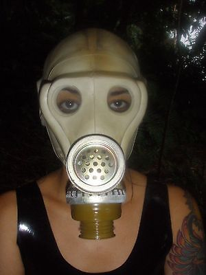 """Cool used RUSSIAN """"Monkey Face"""" #2 GAS MASK w/ speaking Membrane allows talking!"""
