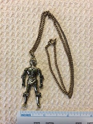 Star Wars C3Po Necklace Chain Pendent 3D Charm Collectible Vintage Century Fox