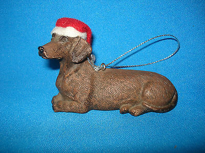 Sandicast Dachshund Christmas Ornament