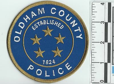 NEW RARE OLDHAM COUNTY POLICE DEPARTMENT OFFICE OF THE CHIEF PATCH not sheriff