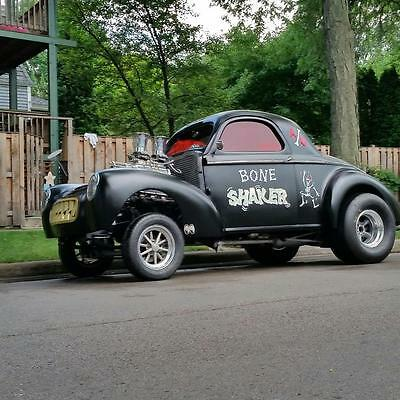 1941 Willys Coupe  1941 Willys All Steel -No Kit Car Vintage Nostalgia Blown gasser 548 BBC 850 HP.