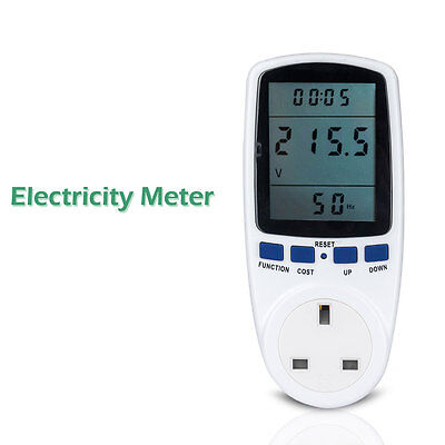 New Plug In Electricity Power Consumption Meter Energy Monitor Calculator Usage