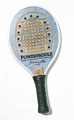 POWERPADDLE  Brian Lee racquet VENICE CA. Paddle Tennis Power Paddle SPORTS BLUE