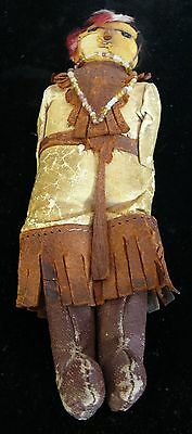 American Indian Leather Doll 1900's