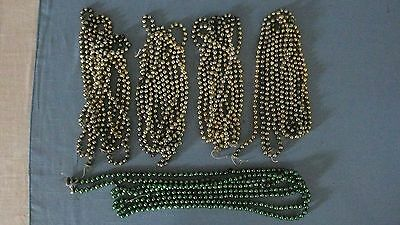 "Vintage Mercury Glass Bead Garland 5 Strands 538"" / 44 ft total"