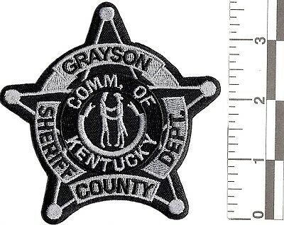 NEW RARE COMMONWEALTH GRAYSON COUNTY SHERIFF DEPARTMENT UNIFORM PATCH police 911