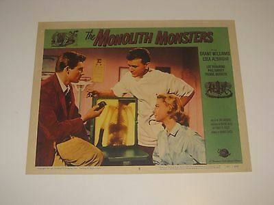 The Monolith Monsters (1957) Lobby Card Grant Williams Story By Jack Arnold