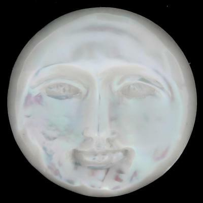 "7/8"" MOONFACE OPENED EYES MOTHER OF PEARL SHELL BEAD CAB cabochon"