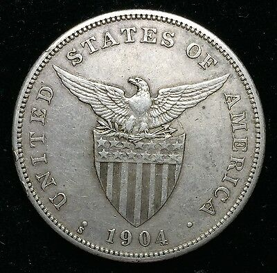 1904s Peso US-Philippines  Silver Coin - lot#14