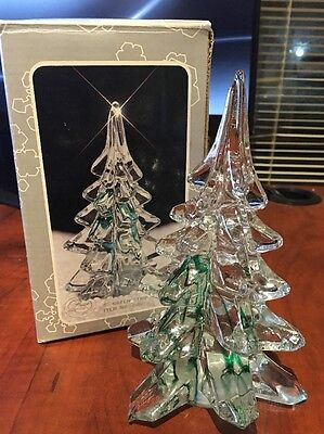 Christmas Decor - Handmade Crystal Glass Tree 6""