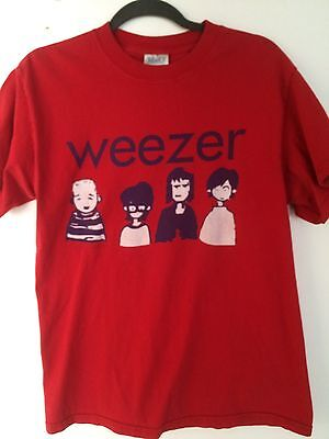 Weezer concert tour t-shirt 2000 - cartoon logo - Medium - exc condition
