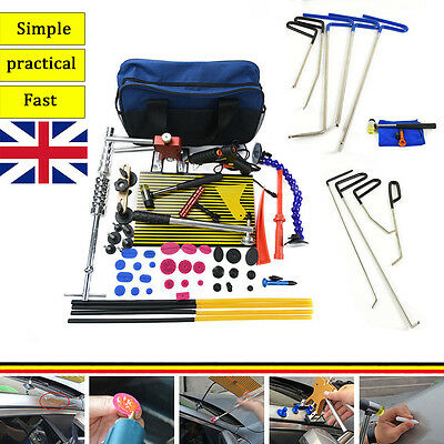 PDR Rods Auto Body Tools Paintless Dent Repair Hail Ding Removal LED Line Board