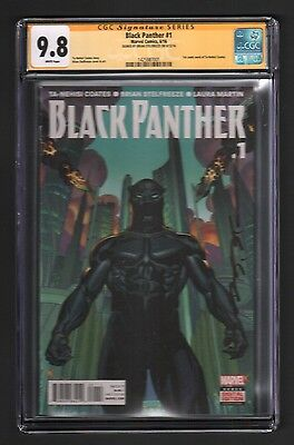 Black Panther #1 - Signed By Cover Artist Brian Stelfreeze - Cgc 9.8
