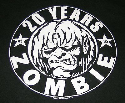 WHITE ZOMBIE ~ Rob Zombie ~ 1985 - 2005 ~ 20 YEARS ~ CONCERT T-SHIRT ~ SIZE M
