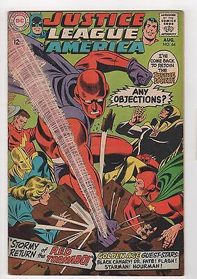 JUSTICE LEAGUE of AMERICA no. 64 1st appearance Red Tornado Very Good 4.0