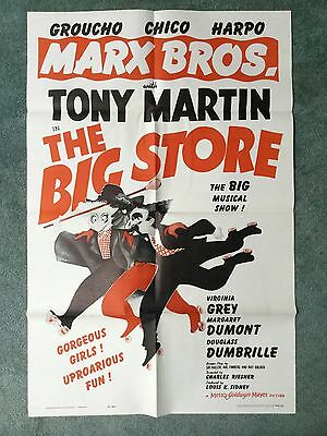 MARX BROTHERS THE BIG STORE Original one sheet R62 Classic Groucho Harpo Chico