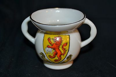 Vintage W H GOSS Crested China Model of the Abbot's Cup from Fountains Abbey