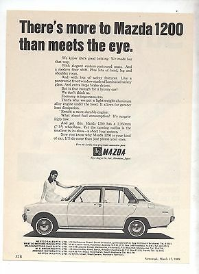 Mazda 1200 Original Advertisement removed from a Magazine