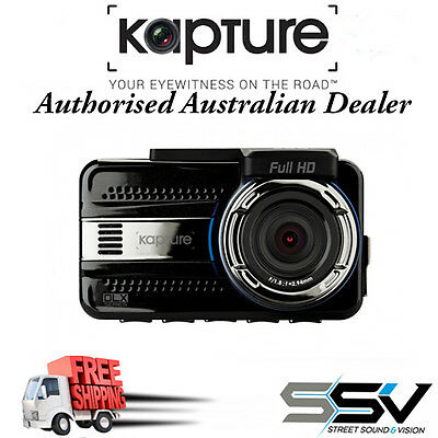Kapture KPT-942 DLX Series In-Car Dash Cam with Rear View Camera GPS ADAS FREE S