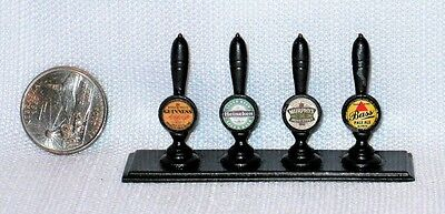 *** Dollhouse Miniature Metal Beer Tap Handles Signed 1988 Pmd Ltd ***