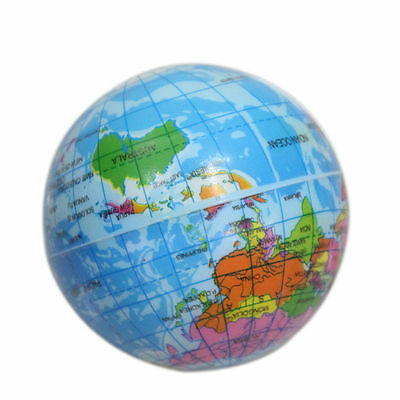 1pc World Map Foam Earth Globe Atlas Geography Toy For Baby Stress Bouncy Ball