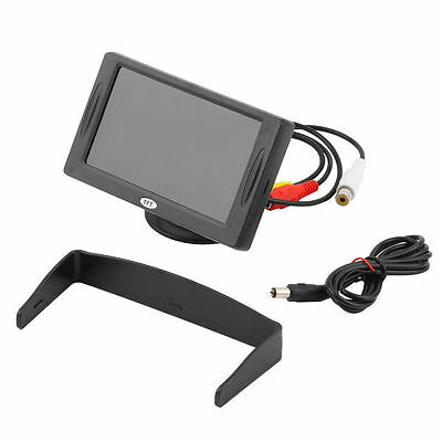 "4.3"" TFT LCD Car Monitor Reverse Rearview Color Camera DVD VCR CCTV Backlight UR"