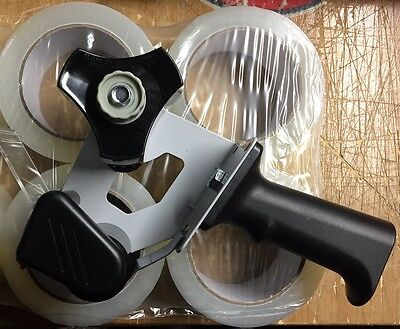 """New packing Tape Gun with 4 rolls 2"""" tape"""