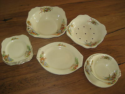 Lovely Vintage Collection Antique J&G Meakin Sunshine China England Plates Bowls