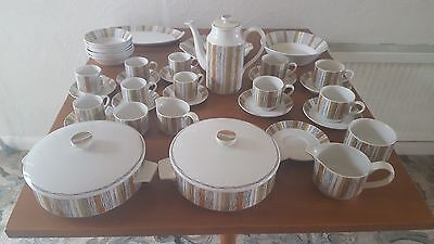 Retro Midwinter  Sienna Pottery tea and coffee set with tableware
