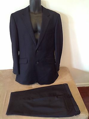 Mens Blue Suit by Austen Brothers Old Jermyn St ..size 40 R ..2 Button..