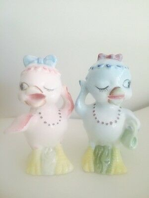 Vintage Japan Winking Duck Salt & Pepper 1960s