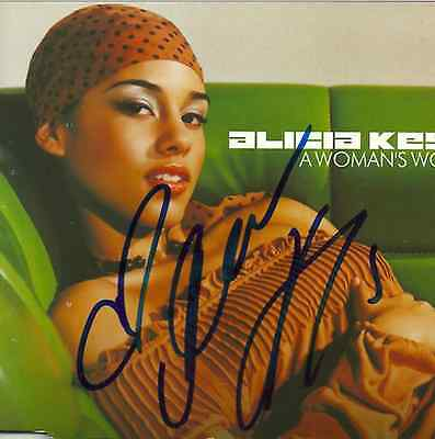 Alicia Keys signed A Woman's Worth import cd single