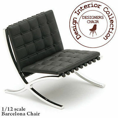 Mies Barcelona Chair Dolls House Miniature Deluxe Seating Designer Chair