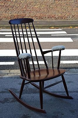 grand rocking chair style scandinave vintage année 50 60