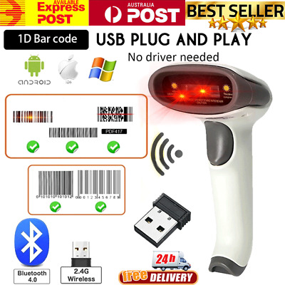 Wireless Bluetooth Barcode Scanner Reader for Apple IOS Android Windows 7/8/10
