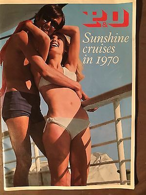P&O Cruise Line Holiday Brochures 1970 2 Nr