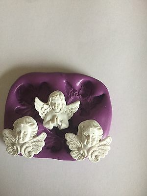 Angel X3 Silicone mould(Cupcake Topper.christening.communion.holy.wedding.