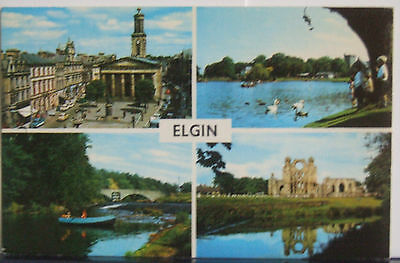Vintage Multi View Postcard of Elgin Moray