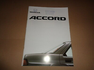 Catalogue Publicitaire Honda  Accord