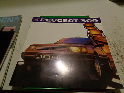 Catalogue Publicitaire Peugeot 309
