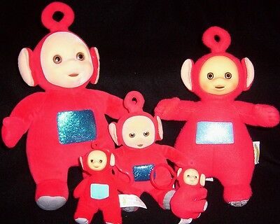 Teletubbies Eden Playskool Burger King lot of 5 plush beanbag clip on with Po