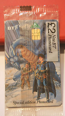 BT PHONECARD SEALED TSR DUNGEONS AND DRAGONS - BLUE DRAGON 1980's