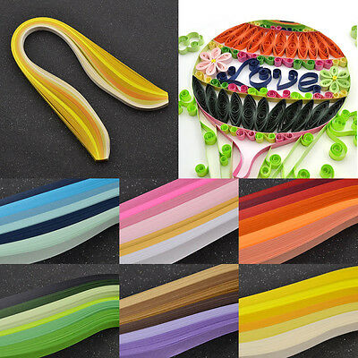 120 Strips 10mm Quilling Paper Mixed Origami Papercraft DIY Craft Gradient Color