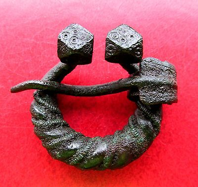 Ancient Viking Bronze Fibula Brooch RARE!!!
