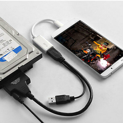 """1PC USB 2.0 To SATA External Converter Adapter Cable For 2.5""""/3.5"""" HDD SSD New"""